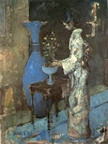 The Standing Blue Vase